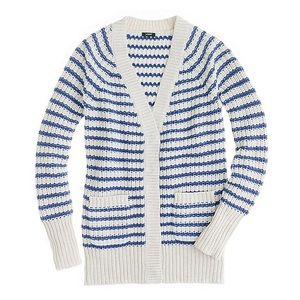 J. CREW Ripplestitch Nautical Knit Cozy Cardigan